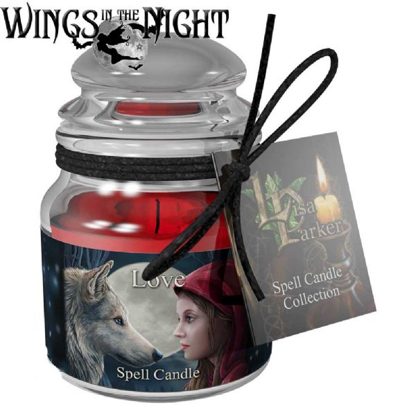 Lisa Parker LOVE Spell Candle Jar by Nemesis Now